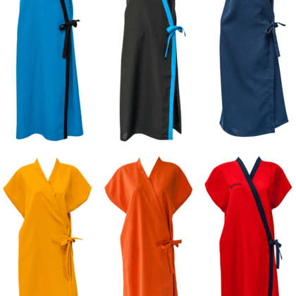 Front Wrap Gowns